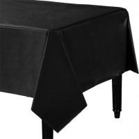 Klassische Folien Tischdecke Schwarz 137x247cm