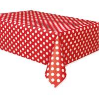 Party Tischdecke Tiana Rot Gepunktet 137 x 274cm