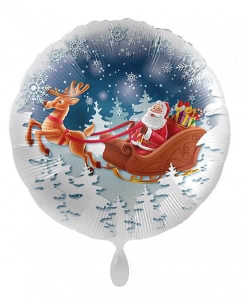 Luge ballon de Noël aluminium 71cm