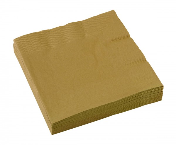 20 napkins 33 x 33 gold-plated