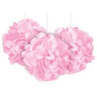 Fluffy Pompon rosa 23cm