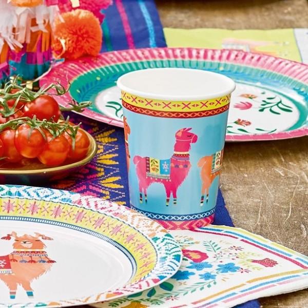 8 Mexican Fiesta Pappbecher 255ml