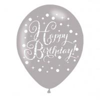 6 Happy Birthday Latexballons