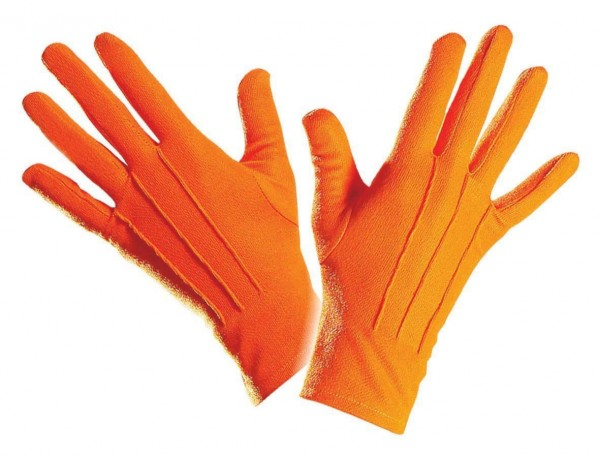 Orangefarbene Elegante Handschuhe