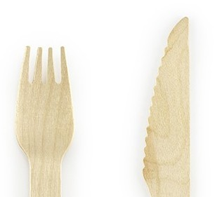 Spring Party wooden cutlery 18 pieces