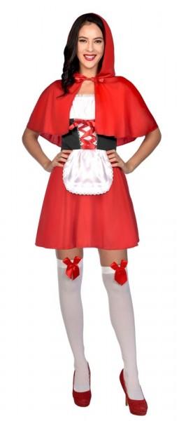 Uroczy kostium damski Czerwony Kapturek