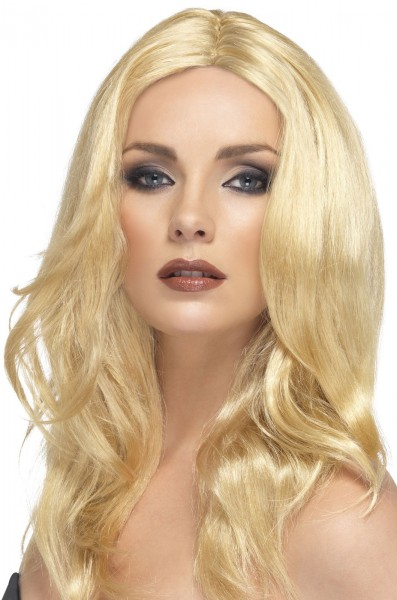 Blonde party wig Pia for women