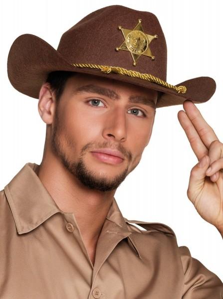 Kapelusz męski szeryfa western