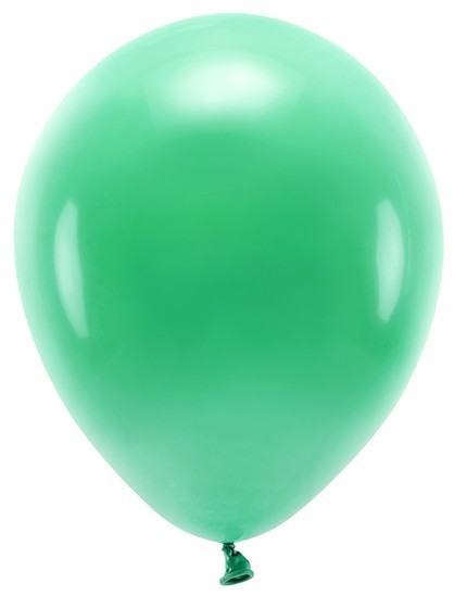 100 ballons éco pastel vert émeraude 30cm