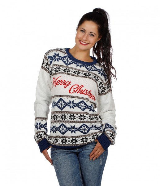 Christmas sweater snow pattern Merry Christmas