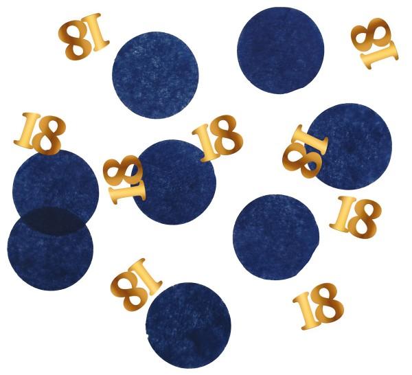 18. Geburtstag Konfetti 25g Elegant blue