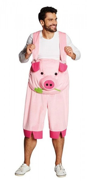 neue niedrigere Preise Kaufen Sie Authentic gemütlich frisch Glücksschwein Latzhose Kostüm Für Erwachsene