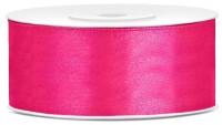 Cinta de regalo de raso de 25 m rosa oscuro de 25 mm de ancho