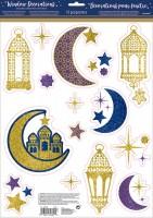 Fensterdeko Ramadan Glitzer 15 Teile