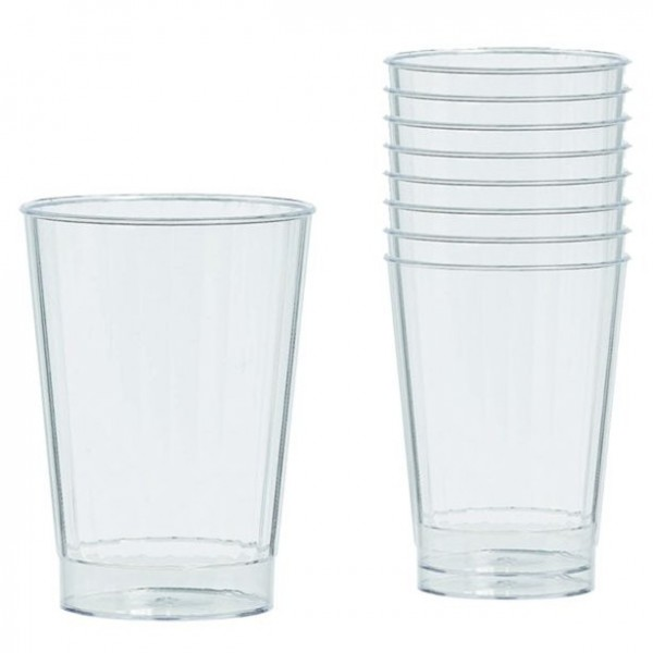 16 verres à boire en plastique transparent 340 ml