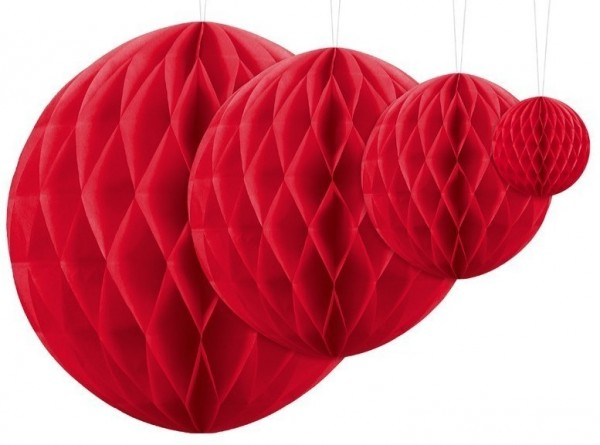 Honeycomb ball Lumina red 20cm