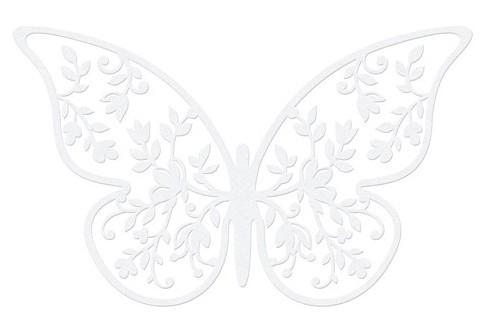 10 Schmetterlinge Papierdeko 6,5 cm