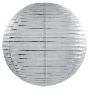 Linterna Lilly gris plata 20cm