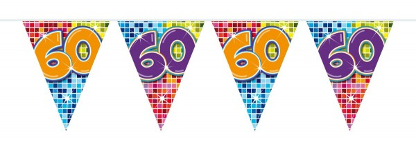 Groovy 60th Birthday Wimpelkette 6m