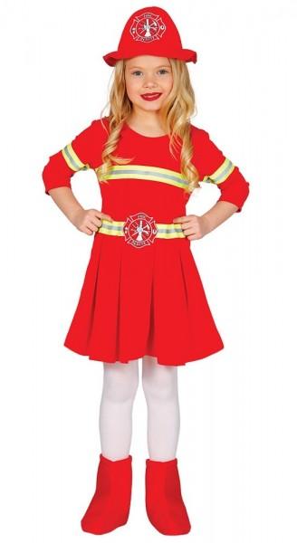 Süßes Feuerwehr Kostüm für Mädchen