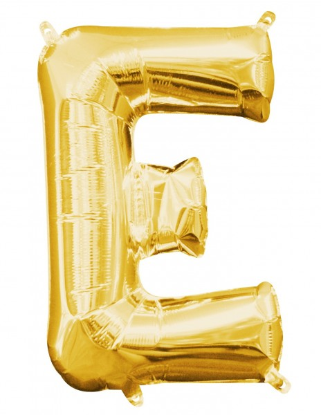 Mini Folienballon Buchstabe E gold 40cm 1