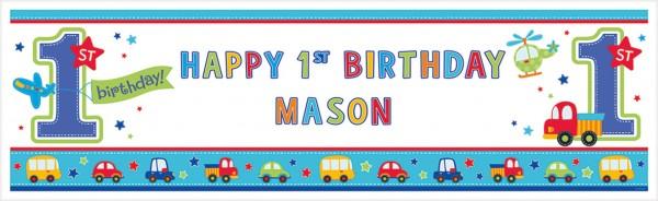 Sweet Birthday Boy Banner Bunt 160x50,8cm