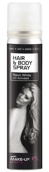 Weißes Neon Farbspray für Haare & Körper 75ml