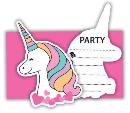 6 Magic Party Einladungskarten