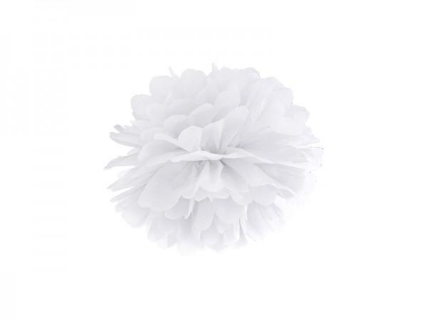 Weißer Papier Pompon 25cm 1