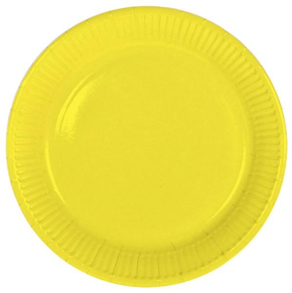 8 paper plates Cleo yellow 23cm