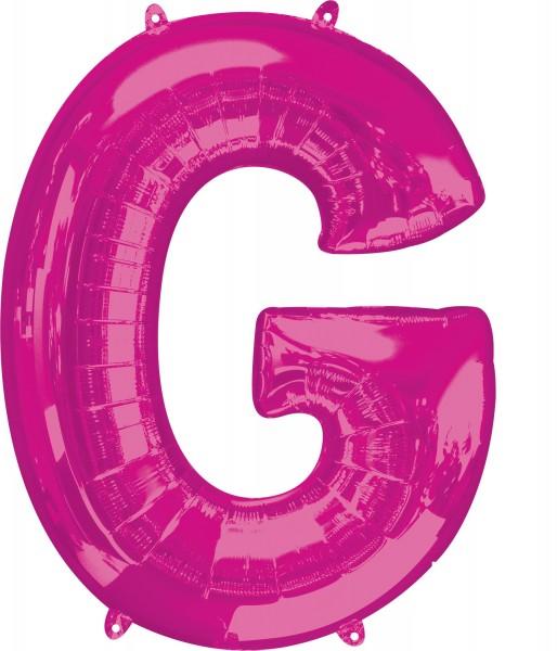 Foil balloon letter G pink XL 81cm