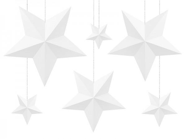 6 Papiersterne zum Aufhängen