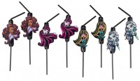 8 Monster High 2 Glamour Divas Strohhalme 24cm