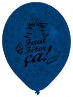 8 Luftballons Faut Fêter ça Komplettdruck
