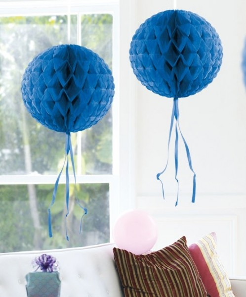 Wabenball Deko Blau 30cm