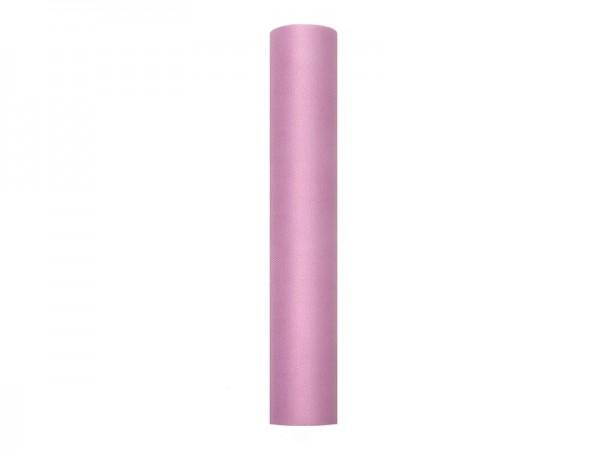 Tulle fabric Luna old pink 9m x 30cm