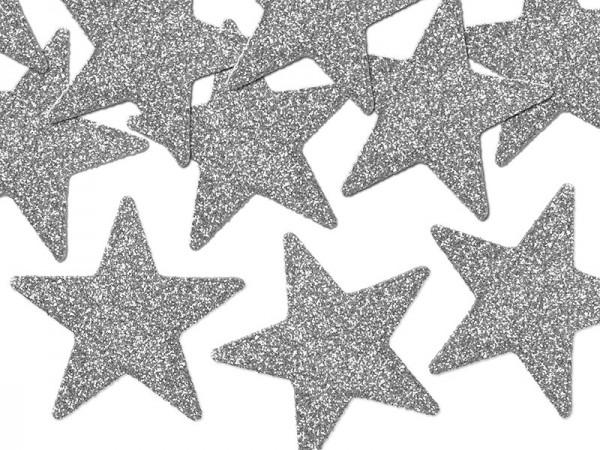 8 estrellas plateadas de decoración 5cm