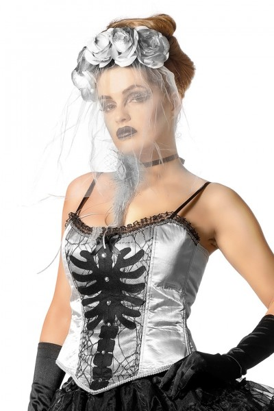 Sexy skeleton corsage for women