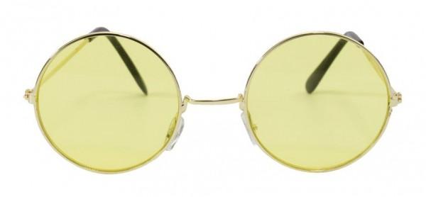 Retro Hippie Brille Gelb