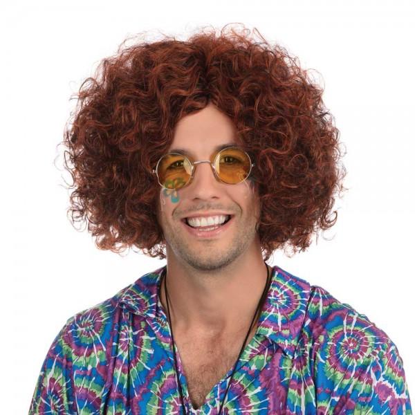 Red-brown hippie Halloween wig