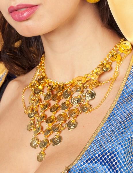 Goldene Münz Halskette