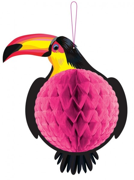 Toucan Honeycomb Ball Decoration 22cm x 33cm