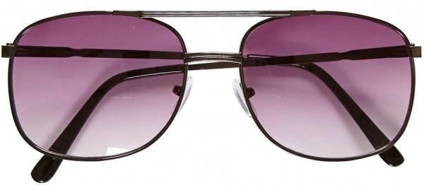 80er-Jahre Pilotenbrille Violett