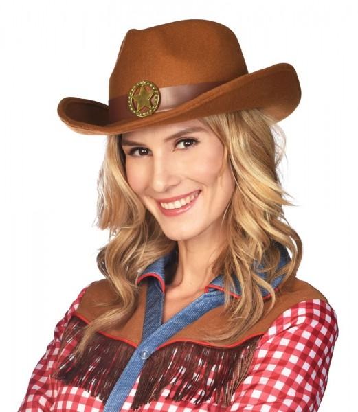 Brauner Sheriff Hut für Damen