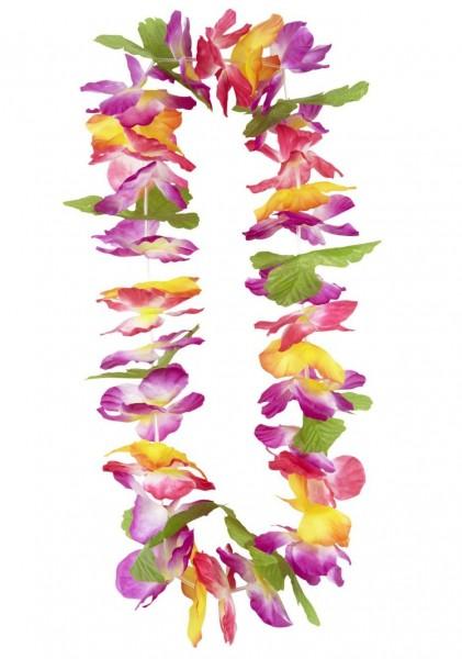 Bunte Hawaii Blumen Halskette