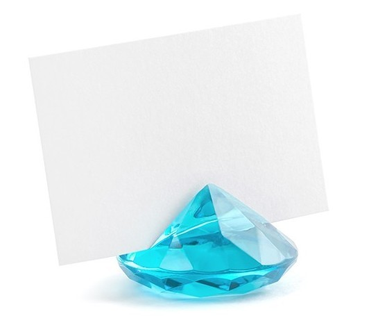 Porte-cartes 10 diamants turquoise 4cm