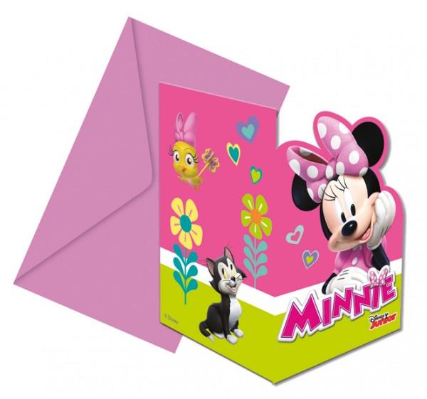 6 Minnie & Daisy Einladungskarten