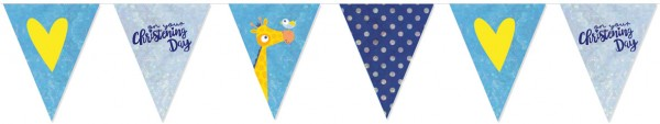Christening Day pennant chain blue 4m