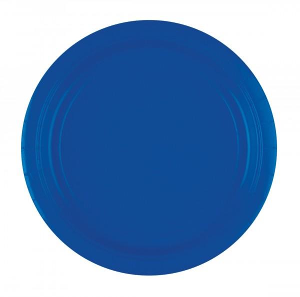 20 platos de papel Amalia azul royal 23cm