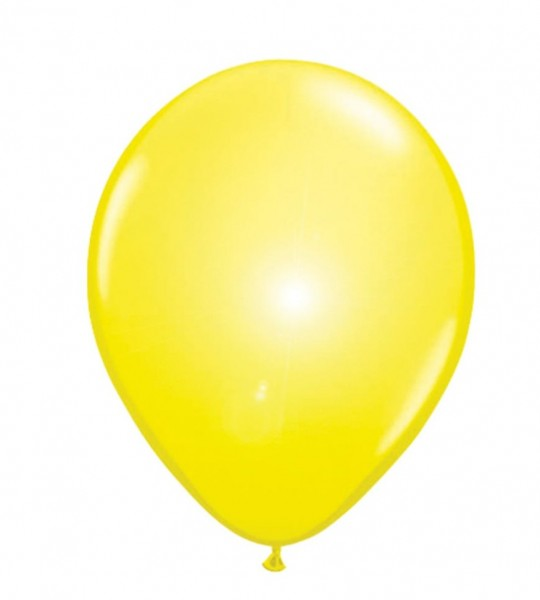 5 LED balloons sun yellow 30cm